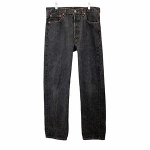 Levis Vintage 501 Button Fly Distressed Jeans